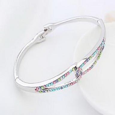Damskie Bransoletki bangle Biżuteria Przyjaźń Modny Kryształ Stop Geometric Shape Biżuteria Na Urodziny