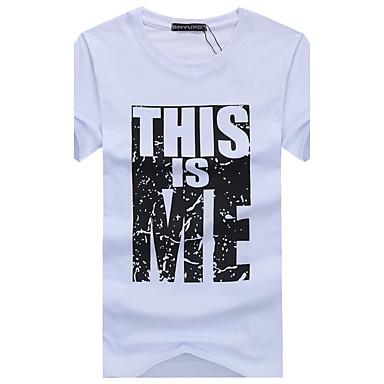 f434689f7fde Χαμηλού Κόστους Ανδρικά μπλουζάκια και φανελάκια-Ανδρικά T-shirt Αθλητικά  Ενεργό - Βαμβάκι Γράμμα
