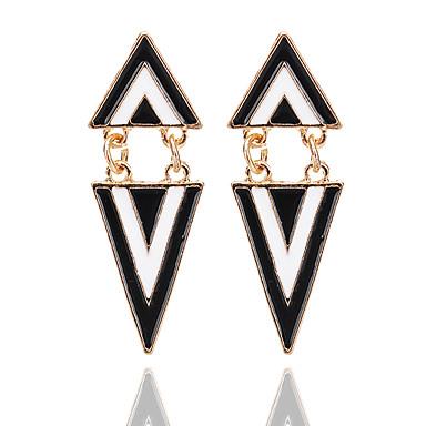 Kolczyki wiszące Biżuteria Unikalny Geometryczny Akrylowy Stop Geometric Shape Black Biżuteria Na Impreza Codzienny Casual 1 para
