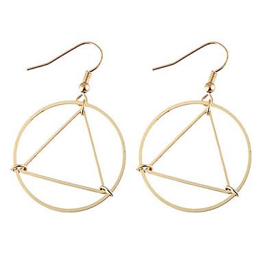 Damla Küpeler Moda Euramerican alaşım Geometric Shape Altın Gümüş Mücevher Için Günlük 1 çift