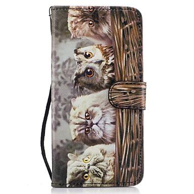 tok Για Samsung Galaxy S8 Plus S8 Πορτοφόλι Θήκη καρτών με βάση στήριξης Ανοιγόμενη Με σχέδια Πλήρης κάλυψη Γάτα Σκληρή PU Δέρμα για S8