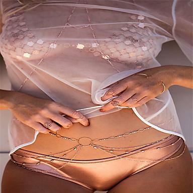 Damskie Biżuteria Łańcuch nadwozia / Belly Chain Modny Stop Gold Biżuteria Na Impreza Specjalne okazje Casual 1szt