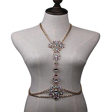 Kadın Vücut Mücevheri Vücut Zinciri / Belly Chain Bohem Doğa Moda Kristal alaşım Mücevher Uyumluluk Özel Anlar Günlük