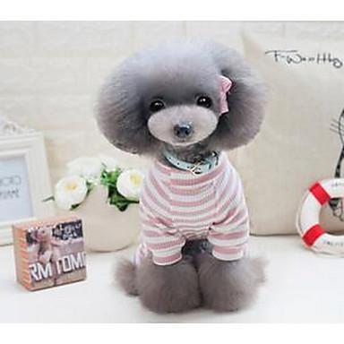 Σκύλος Φανέλα Ρούχα για σκύλους Χαριτωμένο Καθημερινά Πριγκίπισσα Γκρίζο Ροζ Στολές Για κατοικίδια