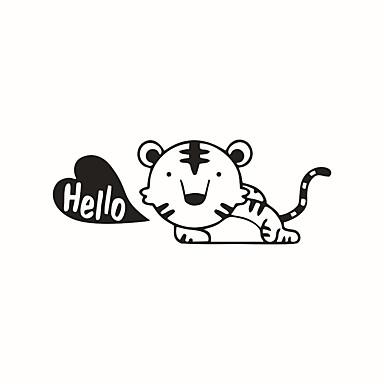 Zwierzęta Moda Rysunek Naklejki Naklejki ścienne lotnicze Dekoracyjne naklejki ścienne Lekkie Naklejki przełączników, Winyl Dekoracja