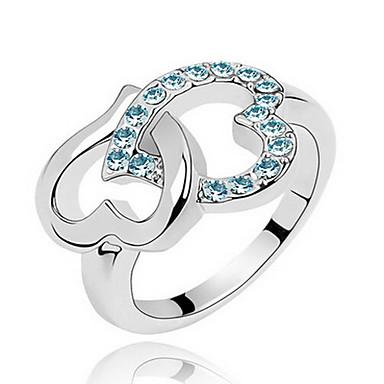 Pierscionek Biżuteria Klasyczny euroamerykańskiej Kamień szlachetny Biżuteria Dark Blue Purple Fuchsia Niebieski Light Blue Biżuteria Na