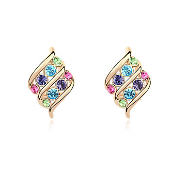 Kadın's Kristal Kişiselleştirilmiş Wzór geometryczny Eşsiz Tasarım Euramerican Moda Mücevher Uyumluluk Düğün Parti Doğumgünü