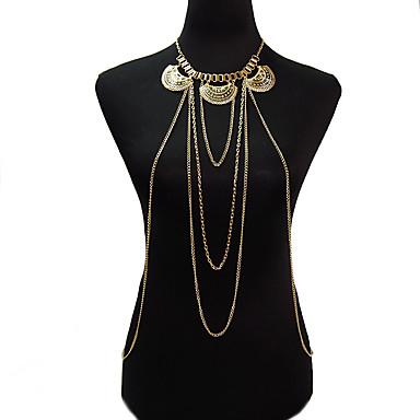 Kadın Vücut Mücevheri Vücut Zinciri / Belly Chain Moda Eski Tip Bohemia Stili alaşım Geometric Shape Altın Mücevher IçinParti Özel Anlar