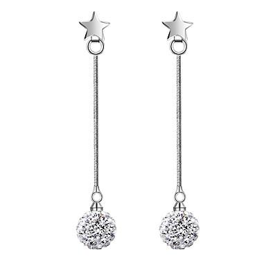 Damskie Kolczyki wiszące Pearl imitacja Kutas Imitacja pereł Cyrkon Line Shape Biżuteria Ślub Impreza Codzienny Casual Biżuteria