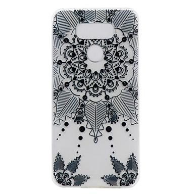 Varten Läpinäkyvä Kuvio Etui Takakuori Etui Unisieppari Pehmeä TPU varten LG LG G6 LG X Power