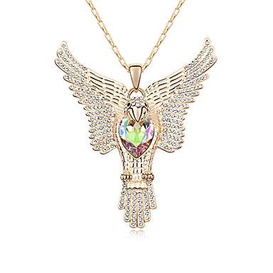 Kadın's Uçlu Kolyeler Kristal Eşsiz Tasarım Moda Euramerican Mücevher Uyumluluk Düğün Parti Doğumgünü