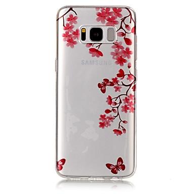 Etui Käyttötarkoitus Samsung Galaxy S8 Plus S8 IMD Läpinäkyvä Kuvio Takakuori Perhonen Pehmeä TPU varten S8 Plus S8 S7 edge S7 S6 edge S6