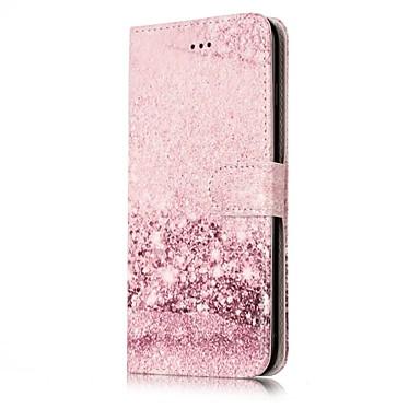 Na Etui na karty Portfel Z podpórką Flip Wzór Magnetyczne Kılıf Futerał Kılıf Marmur Twarde Skóra PU na AppleiPhone 7 Plus iPhone 7