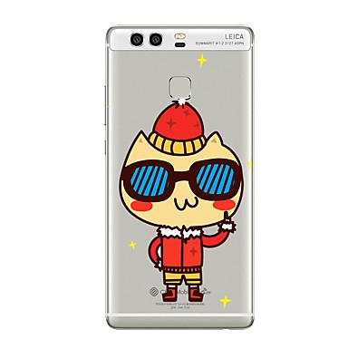 إلى شفاف نموذج غطاء غطاء خلفي غطاء كرتون ناعم TPU إلى HuaweiHuawei P10 Plus Huawei P10 Lite Huawei P10 هواوي P9 Huawei P9 Lite Huawei P9