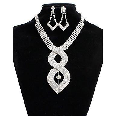 Pentru femei Seturi de bijuterii de mireasă Diamant sintetic Aliaj Inimă Modă Nuntă Petrecere Ocazie specială Zilnic 1 Colier 1 Pereche