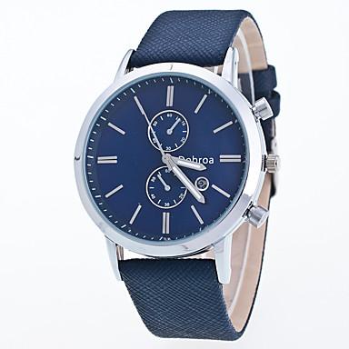 Bărbați Ceas Sport Ceas Elegant Ceas La Modă Ceas de Mână Chineză Quartz Piele Autentică Bandă Charm Casual Creative MulticolorNegru