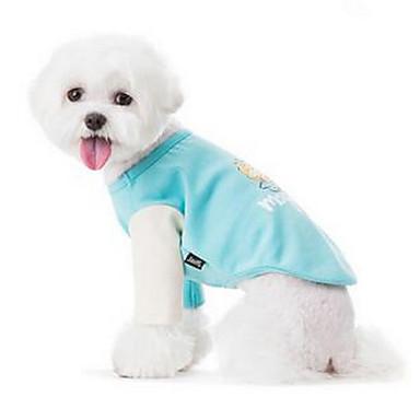 Câine Hanorca Îmbrăcăminte Câini Respirabil Draguț Casul/Zilnic Desene Animate Albastru Deschis Costume Pentru animale de companie