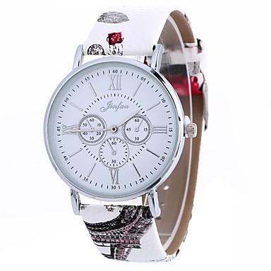 Damskie Modny Zegarek na nadgarstek Kwarcowy PU Pasmo Twórczy Na co dzień Nowoczesne Czarny Biały Brązowy Różowy