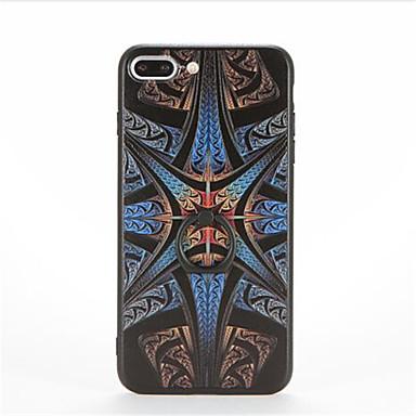 Pouzdro Uyumluluk Apple iPhone 7 Plus / iPhone 7 Yüzüklü Tutacak / Temalı / Süslü Arka Kapak Geometrik Desenli Sert PC için iPhone 7 Plus