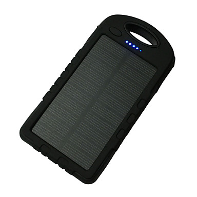 Power Bank Ulkoinen akku 5V 1A / # Akkulaturi Takulamppu / Multi-Output / Aurinkopaneelilataus LED