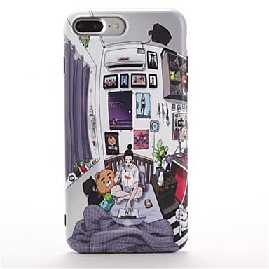 Για Με σχέδια tok Πίσω Κάλυμμα tok Κινούμενα σχέδια Μαλακή TPU για Apple iPhone 7 Plus iPhone 7