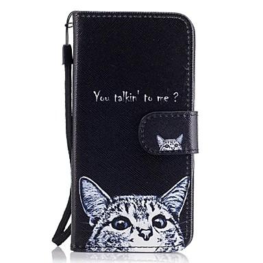 tok Για Samsung Galaxy A5(2017) A3(2017) Θήκη καρτών Πορτοφόλι με βάση στήριξης Ανοιγόμενη Με σχέδια Πλήρης Θήκη Γάτα Σκληρή PU δέρμα για