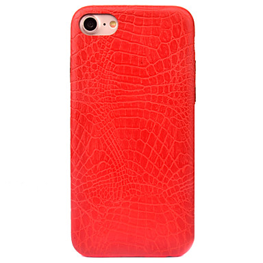 Kılıf Na Apple iPhone 8 iPhone 8 Plus Szron Wzór Czarne etui Solid Color Twarde Skóra PU na iPhone 8 Plus iPhone 8 iPhone 7 Plus iPhone 7