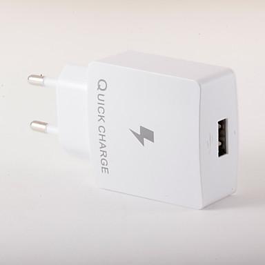 Ładowarka przenośna Telefonowa ładowarka USB Wtyczka EU Szybkie ładowanie 1 port USB 3A AC 100V-240V Do smartfona Do tabletu Do iPhone'a