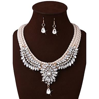 Pentru femei Altele Set bijuterii 1 Colier / 1 Pereche de Cercei - Punk Alb Seturi de bijuterii / Coliere Pentru Nuntă / Petrecere /