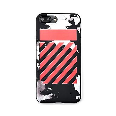 Pentru Model Maska Carcasă Spate Maska Linii / Valuri Moale TPU pentru AppleiPhone 7 Plus iPhone 7 iPhone 6s Plus iPhone 6 Plus iPhone 6s