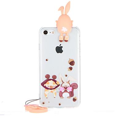 Için Şeffaf Temalı Pouzdro Arka Kılıf Pouzdro 3D Karikatür Sert PC için AppleiPhone 7 Plus iPhone 7 iPhone 6s Plus iPhone 6 Plus iPhone