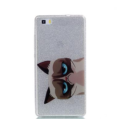غطاء من أجل Huawei IMD نموذج غطاء خلفي قطة بريق لماع ناعم PC إلى هواوي P9 Huawei P9 Lite Huawei P8 Lite