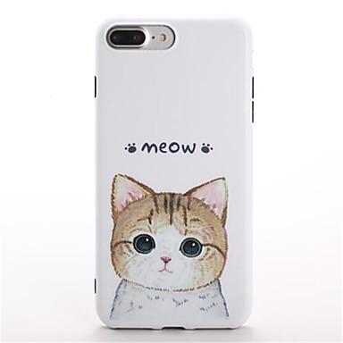 Varten Kuvio Etui Takakuori Etui Kissa Pehmeä TPU varten Apple iPhone 7 Plus iPhone 7