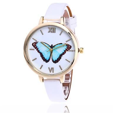 Kadın's Bilek Saati Moda Saat Quartz / PU Bant Günlük Kelebek Havalı Siyah Beyaz Mavi Kırmızı Kahverengi Yeşil Pembe
