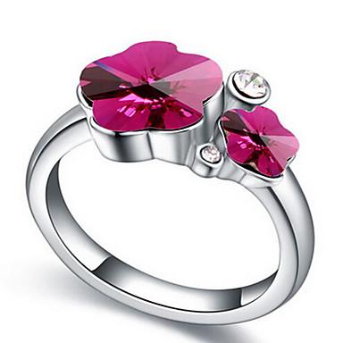 Γυναικεία Δαχτυλίδι Κοσμήματα Λουλουδάτο Λουλούδι Βασικό Λουλούδια Euramerican Συνθετικοί πολύτιμοι λίθοι Flower Shape Κοσμήματα Κοσμήματα