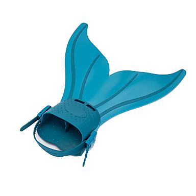 Dalış Fins Yüzme Paletleri Şnorkel Paketleri Ayarlanabilir Ölçü Çabuk Açılma Deniz Kızı Yüzme Dalış ve Şnorkel TPR Silikon için Kadın's