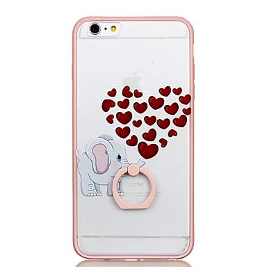 Na Uchwyt pierścieniowy Przezroczyste Wzór Kılıf Etui na tył Kılıf Serce Twarde PC na AppleiPhone 6s Plus iPhone 6 Plus iPhone 6s iphone