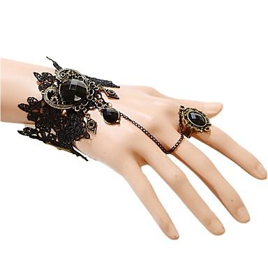 Damskie Bransoletki i łańcuszki na rękę Modny luksusowa biżuteria Koronka Black Biżuteria NaŚlub Impreza Specjalne okazje Urodziny