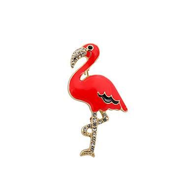 للمرأة دبابيس ترف تصميم الحيوانات euramerican في اسلوب لطيف موضة بديع حجر الراين تقليد الماس مينا سبيكة عصفور حيوان أصفر أحمر مجوهرات من