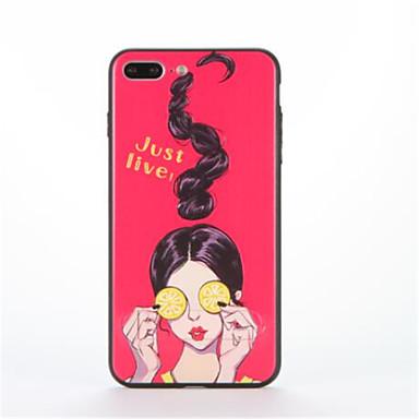 Pentru Cu Stand Model Maska Carcasă Spate Maska Femeie Sexy Greu PC pentru AppleiPhone 7 Plus iPhone 7 iPhone 6s Plus iPhone 6 Plus