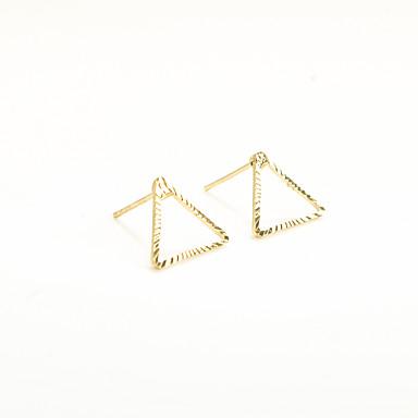 Κουμπωτά Σκουλαρίκια Κοσμήματα Γεωμετρικό Μοντέρνα Εξατομικευόμενο Euramerican Χαλκός Geometric Shape Triangle Shape Χρυσό Ασημένιο