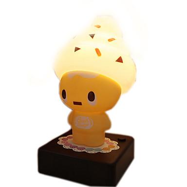 1 Adet yenilik dondurma adam gece lambaları usb / aa pil küçük led masa lambası çocuk oyuncakları çocukların yatak odası dekor ışık