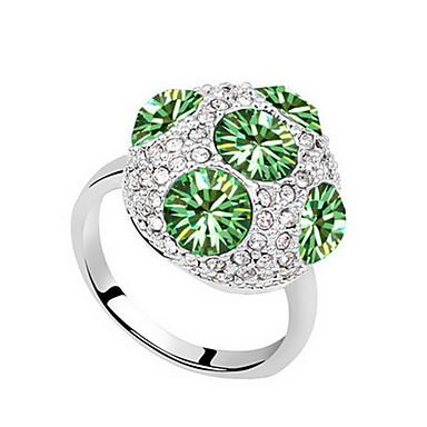 Kadın's İfadeli Yüzükler Mücevher Kişiselleştirilmiş Temel Euramerican Sentetik Taşlar Mücevher Mücevher Uyumluluk Parti Özel Anlar