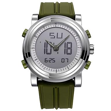 Χαμηλού Κόστους Ανδρικά ρολόγια-SINOBI Ανδρικά Αθλητικό Ρολόι Ψηφιακό ρολόι Χαλαζίας Ψηφιακή σιλικόνη Μαύρο / Λευκή / Πορτοκαλί 30 m Ανθεκτικό στο Νερό Ανθεκτικό στα Χτυπήματα Χρονόμετρο Αναλογικό-Ψηφιακό Καθημερινό -  / Δύο χρόνια