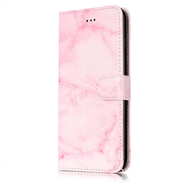 tok Για Apple iPhone 7 Plus iPhone 7 Θήκη καρτών Πορτοφόλι με βάση στήριξης Ανοιγόμενη Με σχέδια Πλήρης Θήκη Μάρμαρο Σκληρή PU δέρμα για