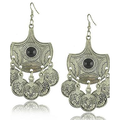 Kolczyki wiszące Biżuteria Okragły Unikalny Postarzane Stop Round Shape Silver Biżuteria Na Impreza Codzienny Casual 1 para
