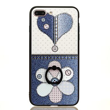Varten Sormuksen pidike Kuvio Etui Takakuori Etui Geometrinen printti Kova PC varten Apple iPhone 7 Plus iPhone 7