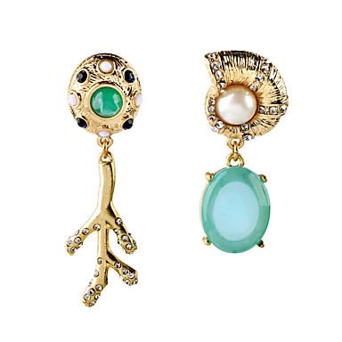 Kolczyki na sztyft Kryształ Unikalny Modny Osobiste euroamerykańskiej Yellow Biżuteria Na Ślub Impreza Urodziny 1 para