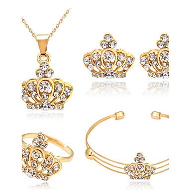 Damskie Zestawy biżuterii Kryształ Kryształ górski Stop Crown Shape Podstawowy Prezenty bożonarodzeniowe Ślub Impreza Specjalne okazje