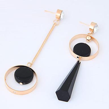 Kadın's Uyumsuzluk Damla Küpeler - Uyumsuzluk Euramerican Moda Altın Gümüş Circle Shape Küpeler Uyumluluk Günlük